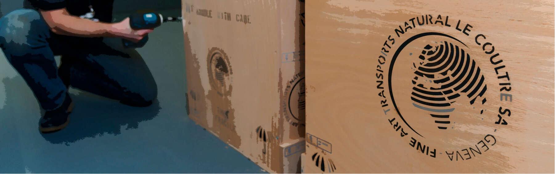 mise en caisse d'une oeuvre d'art par Fortius